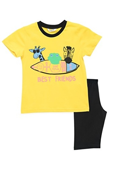 Roly Poly  Best Friends Mimoza Erkek Çocuk Kapri Takım Sarı